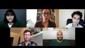 5 members of the Portuguese Language Program in their virtual online Zoom session
